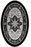 rug #1303615 | oval black borders rug