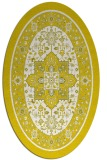 rug #1303619 | oval white borders rug