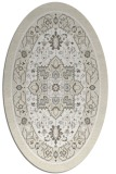 rug #1303631 | oval white traditional rug