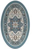 rug #1303635 | oval white traditional rug