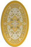 rug #1303643 | oval yellow borders rug