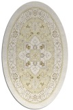 rug #1303647 | oval white borders rug