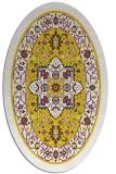 rug #1303651 | oval white borders rug