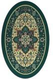 rug #1303659   oval yellow traditional rug