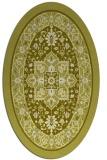 rug #1303663 | oval light-green borders rug