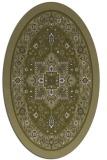 rug #1303675   oval light-green rug