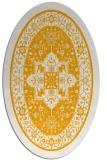 rug #1303679   oval light-orange borders rug