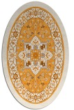 rug #1303687 | oval light-orange popular rug
