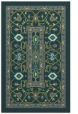 rug #1303823 |  blue-green borders rug