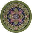 rug #1304103 | round blue traditional rug