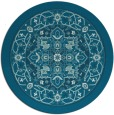 rug #1304111 | round blue-green borders rug