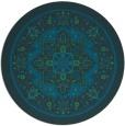 rug #1304123 | round blue-green borders rug