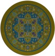 rug #1304135 | round blue-green borders rug