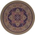 rug #1304163 | round beige borders rug