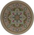 rug #1304171 | round brown borders rug