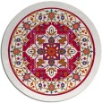 rug #1304175 | round red rug