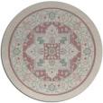 rug #1304183 | round pink borders rug