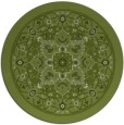 rug #1304187 | round green popular rug