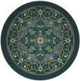 rug #1304191 | round blue-green traditional rug