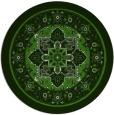 rug #1304203 | round light-green rug