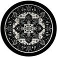 rug #1304207 | round black borders rug