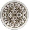 rug #1304223 | round white traditional rug