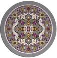 rug #1304252 | round borders rug