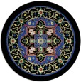 rug #1304263 | round black traditional rug