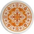rug #1304275 | round orange traditional rug