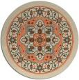 rug #1304279 | round beige borders rug