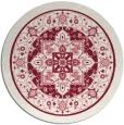 rug #1304291 | round pink borders rug