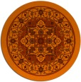 rug #1304335   round red-orange traditional rug