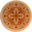 rug #1304339 | round red-orange traditional rug