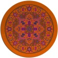 rug #1304343 | round red-orange borders rug