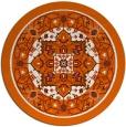 rug #1304347   round red-orange traditional rug