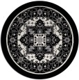 rug #1304351 | round white traditional rug