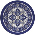 rug #1304359 | round blue traditional rug