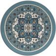 rug #1304371 | round blue-green rug