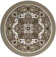 rug #1304375 | round beige borders rug