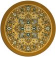 rug #1304391 | round light-orange traditional rug