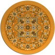 rug #1304419 | round light-orange traditional rug