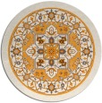 rug #1304423 | round light-orange traditional rug