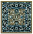 rug #1304823 | square brown damask rug