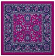 rug #1304831 | square blue damask rug