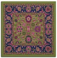 rug #1304839 | square green traditional rug