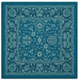 rug #1304847 | square blue-green traditional rug
