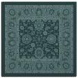 rug #1304867 | square blue-green damask rug