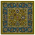 rug #1304871 | square blue-green borders rug