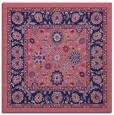 rug #1304887 | square blue-violet damask rug