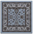 rug #1304903 | square blue-violet damask rug